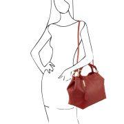 leren-damestas-ambrosia-rood-schouder