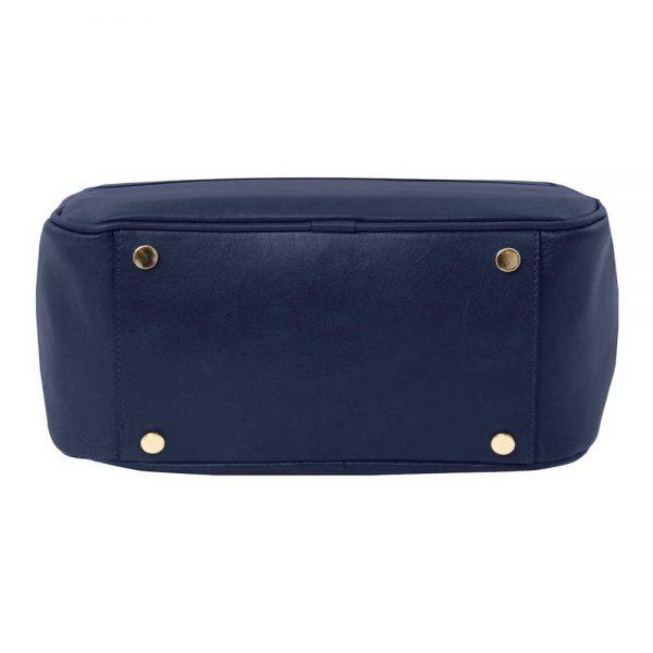 Onderkant leren dames rugzak 'TL bag' in blauw bij ItaliaanseTassen.nl