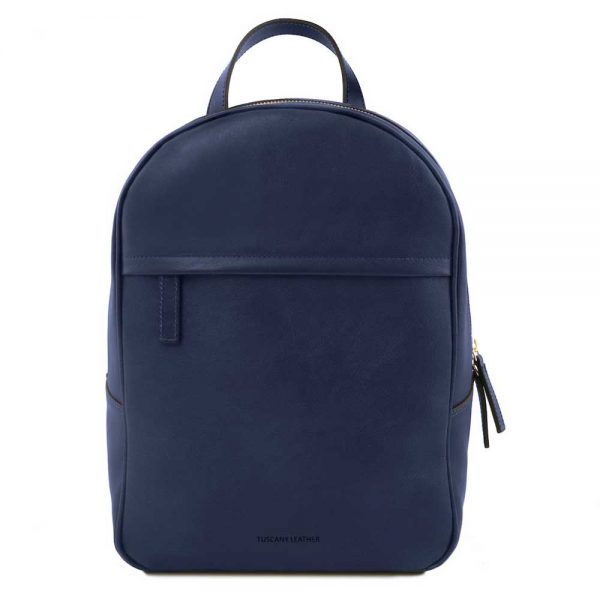Leren dames rugzak 'TL bag' in blauw bij ItaliaanseTassen.nl