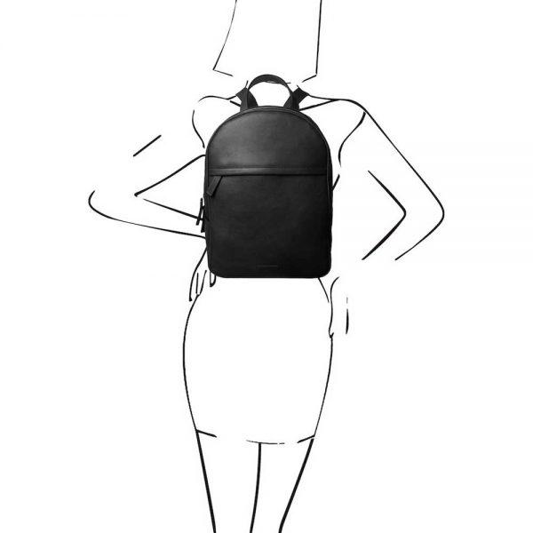 Leren dames rugzak 'TL bag' in zwart van ItaliaanseTassen.nl