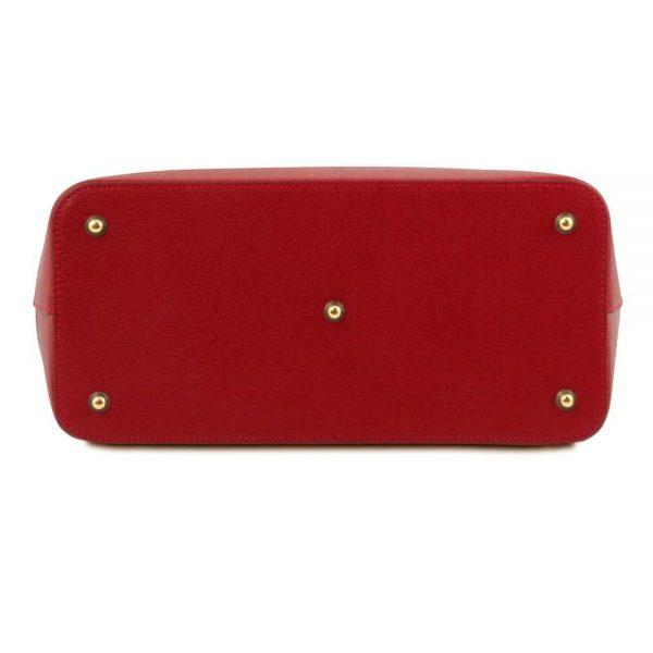 Onderkant leren damestas 'TL bag' in rood bij ItaliaanseTassen.nl