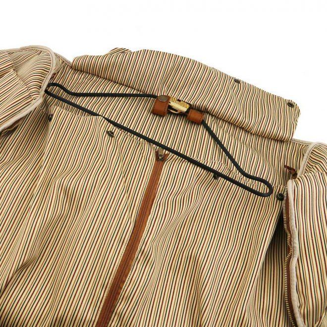 leren reistas Antigua cognac kledinghanger