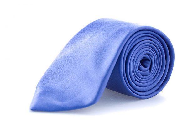 Zijden stropdas Como in de kleur blauw