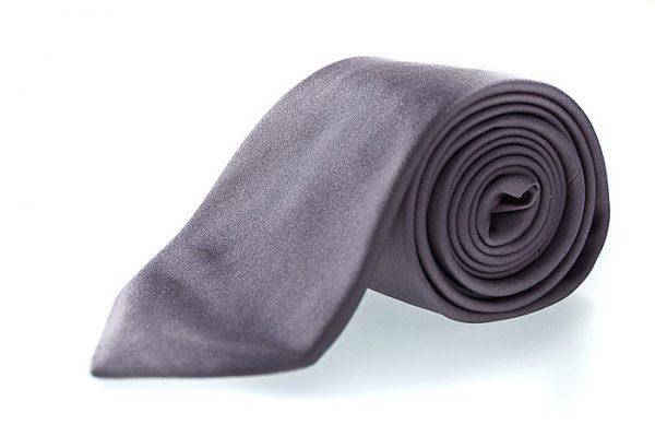 Zijden stropdas Como in de kleur grijs