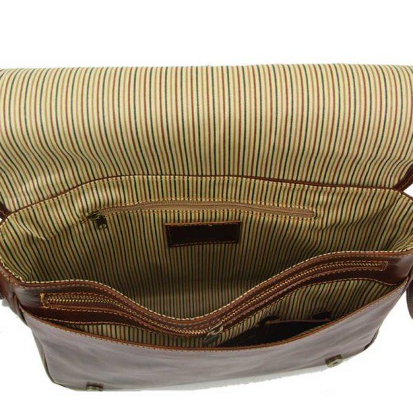 Leren messenger bag 'Messenger I' bij ItaliaanseTassen.nl