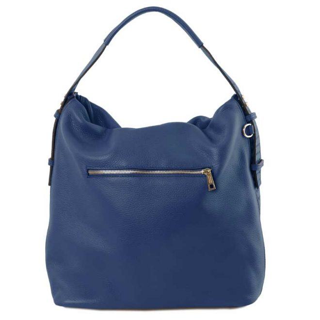 leren damestas tl bag 84 blauw achterkant