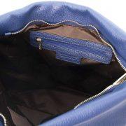 leren damestas tl bag 84 blauw vak met rits