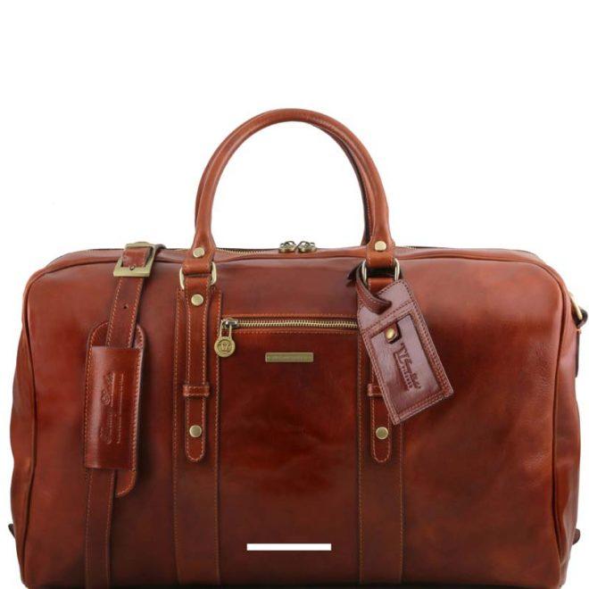 leren reistas tl voyager de luxe bruin personalisering