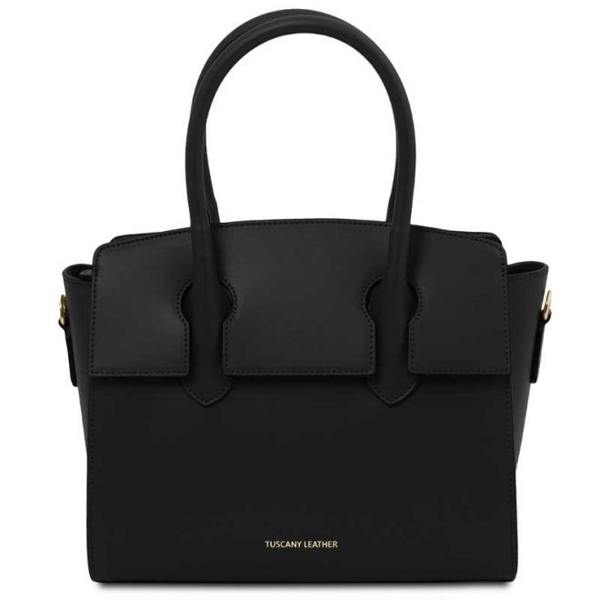 leren damestas tl bag 43 zwart voorkant