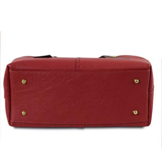 leren damestas tl bag 30 rood onderkant