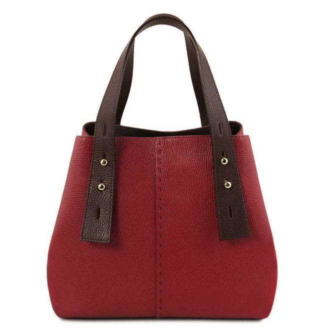leren damestas tl bag 30 rood voorkant