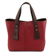 leren damestas tl bag 30 rood uitgevouwen