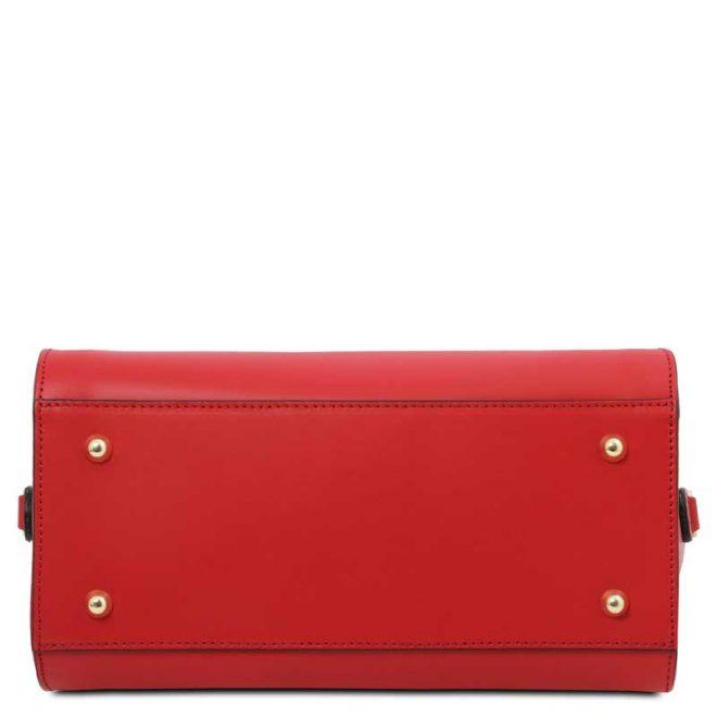 leren damestas tl bag 43 rood onderkant