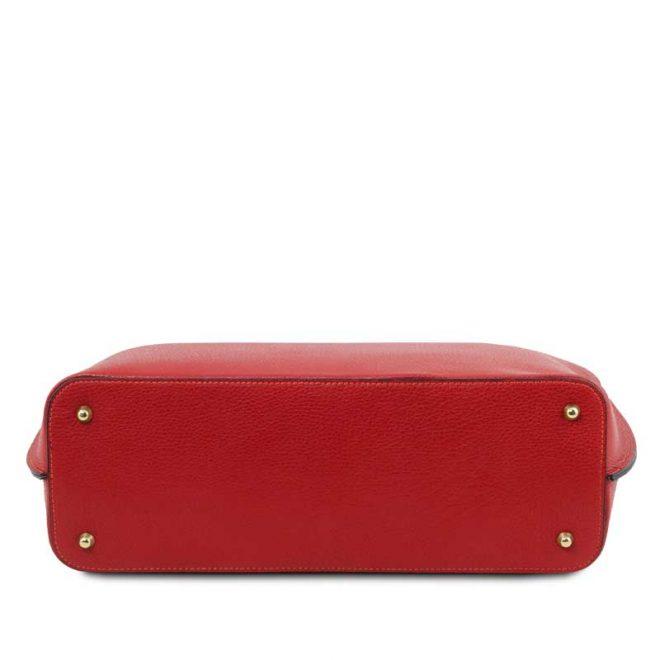 leren damestas tl bag 28 rood onderkant