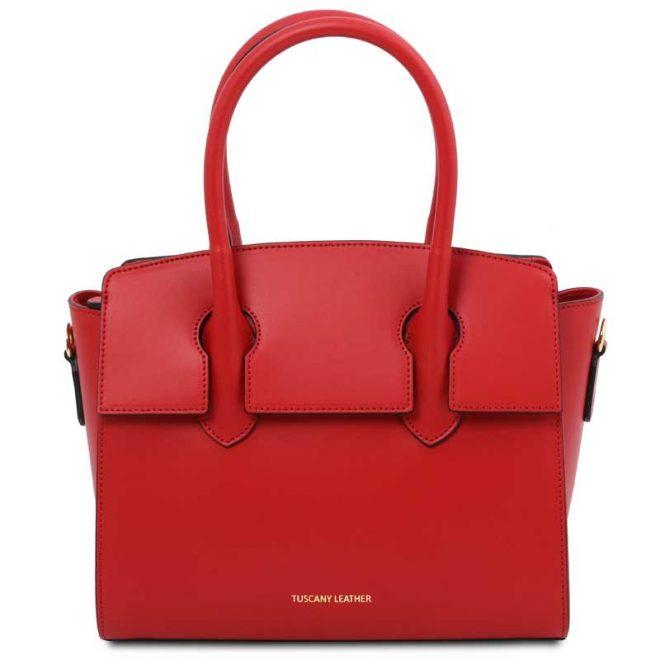 leren damestas tl bag 43 rood voorkant