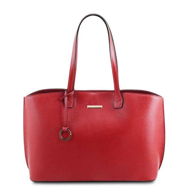 leren damestas tl bag 28 rood voorkant