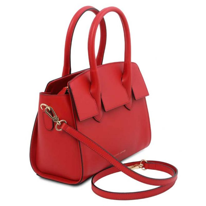 leren damestas tl bag 43 rood zijkant