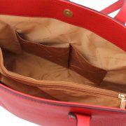 leren damestas tl bag 28 rood open vakken