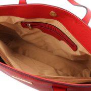 leren damestas tl bag 28 rood vak met rits