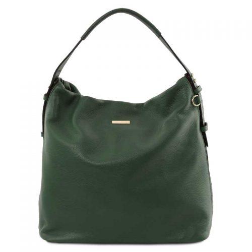 leren damestas tl bag 84 groen voorkant