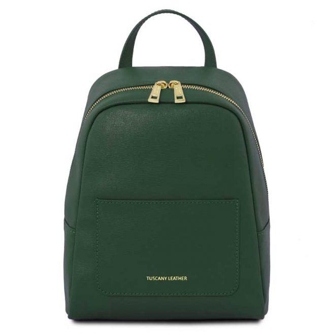 leren rugzak dames tl bag 01 groen voorkant