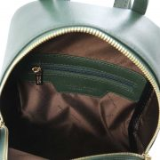 leren rugzak dames tl bag 01 groen binnenkant