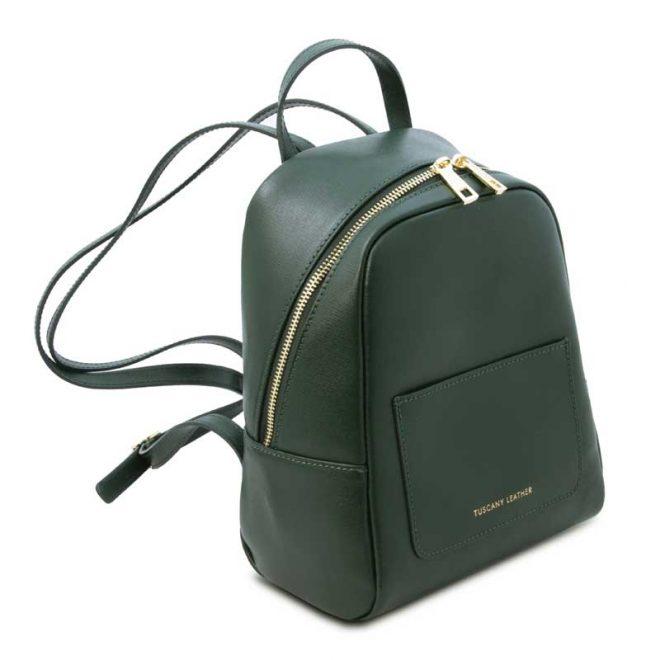 leren rugzak dames tl bag 01 groen zijkant