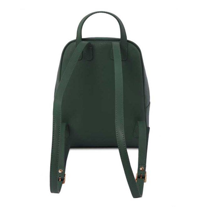 leren rugzak dames tl bag 01 groen achterkant