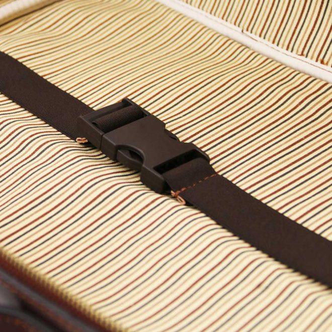leren aktetas Vicenza bruin houder laptop