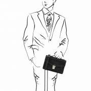 leren herentas Eric zwart handtas