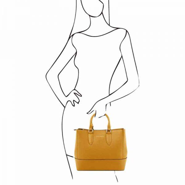 leren Damestas TL bag I bij Italiaansetassen.nl