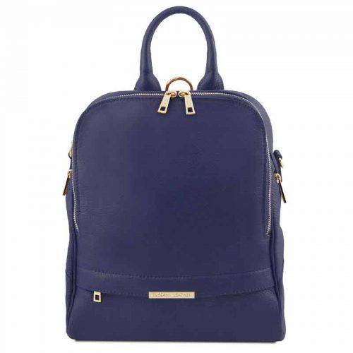leren rugzak dames tl bag 76 donkerblauw voorkant