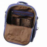 leren rugzak dames tl bag 76 donkerblauw binnenkant