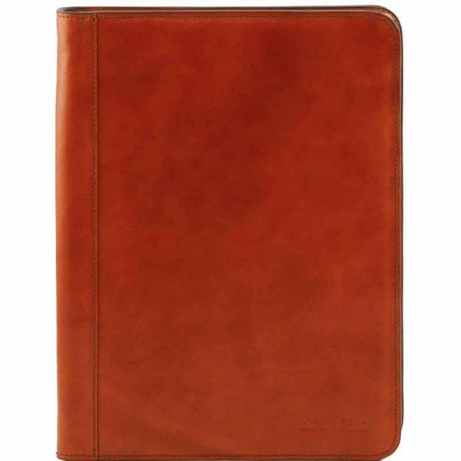 a4 leren schrijfmap Ottavio cognac voorkant