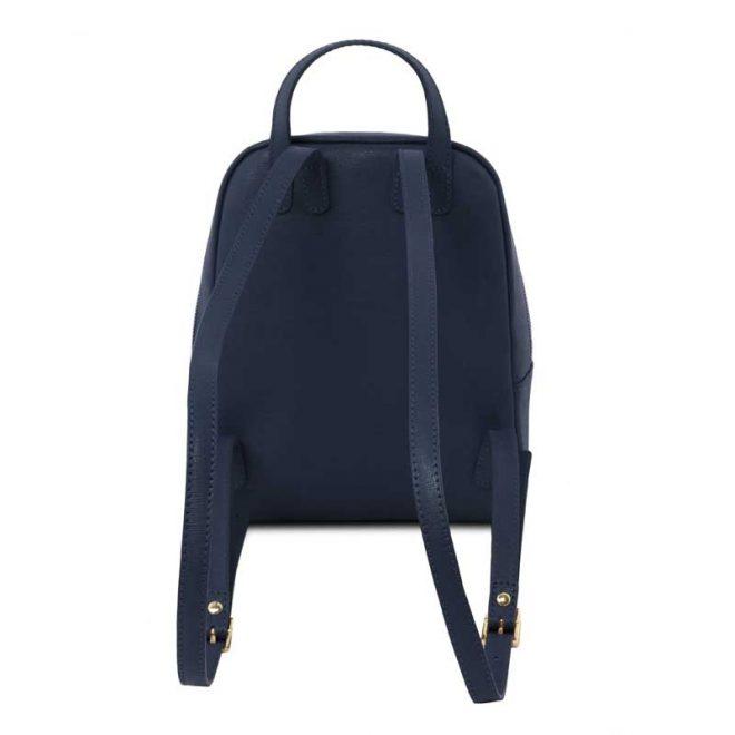 leren rugzak dames tl bag 01 blauw achterkant