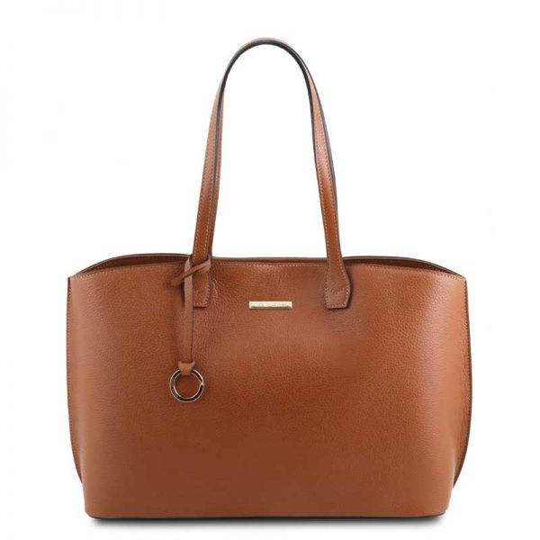 Leren damestas TL bag in cognac bij Italiaansetassen.nl