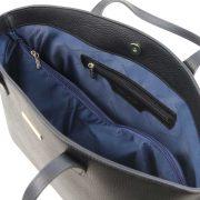 leren damestas tl bag 28 zwart binnenvak met rits