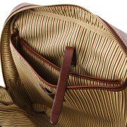 leren rugzak Kyoto bruin open vakken aan de binnenkant