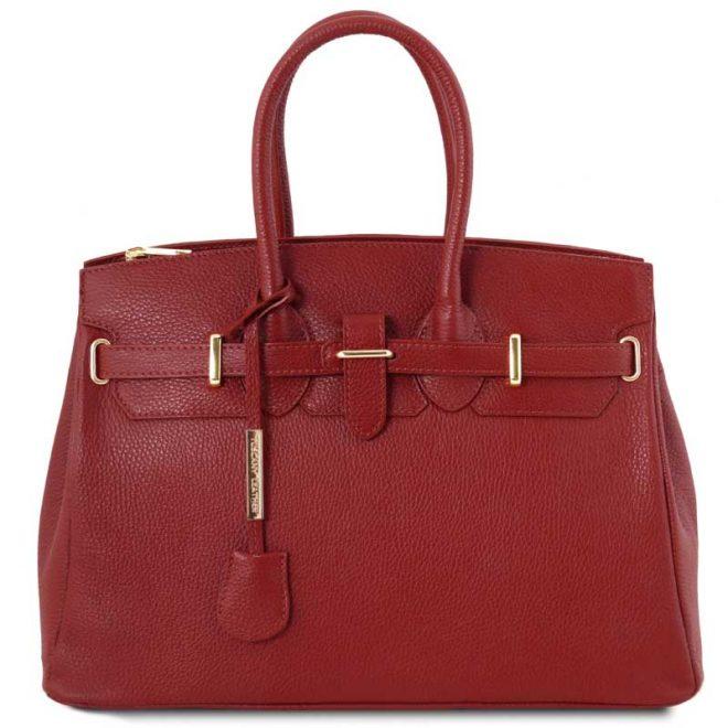 leren damestas tl bag 29 rood voorkant