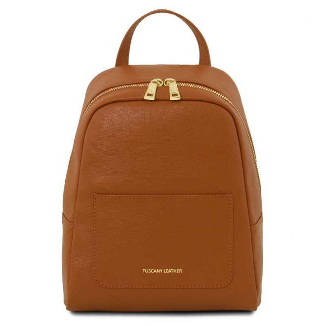 leren-rugtas-dames-tl-bag-01-cognac-voorkant