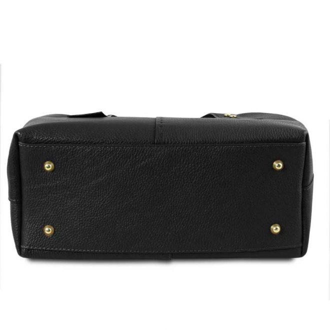 leren damestas tl bag 30 zwart onderkant