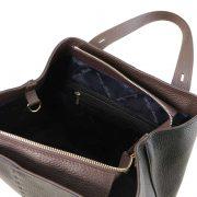 leren damestas tl bag 30 zwart binnenvak met rits