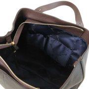 leren damestas tl bag 30 zwart binnenkant
