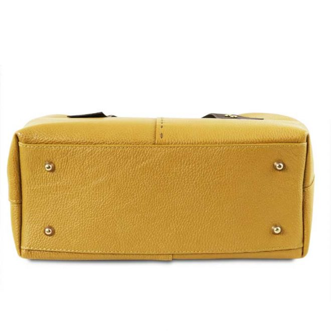 leren damestas tl bag 30 geel onderkant