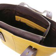 leren damestas tl bag 30 geel binnenvak met rits