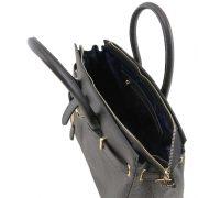 leren damestas tl bag 29 zwart binnenkant