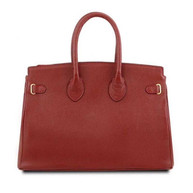 leren damestas tl bag 29 rood achterkant