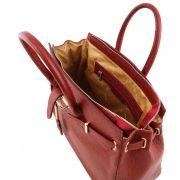 leren damestas tl bag 29 rood binnenkant