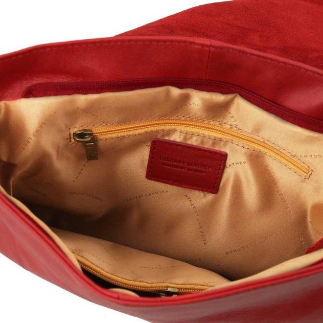 leren damestas tl bag 30 rood binnenkant