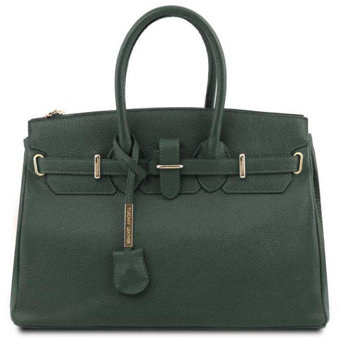 leren-damestas-tl-bag-29-groen-voorkant